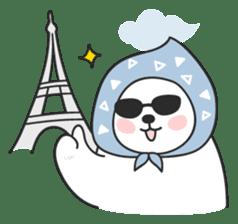 Sweet polar bear 'Gommy' stickers sticker #15580235