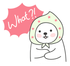 Sweet polar bear 'Gommy' stickers sticker #15580236