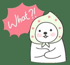 Sweet polar bear 'Gommy' stickers sticker #15580236