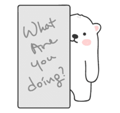Sweet polar bear 'Gommy' stickers sticker #15580237