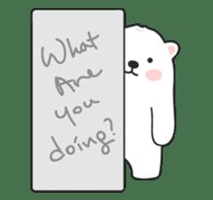 Sweet polar bear 'Gommy' stickers sticker #15580237