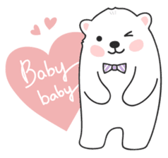 Sweet polar bear 'Gommy' stickers sticker #15580239