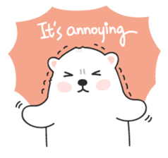Sweet polar bear 'Gommy' stickers sticker #15580240