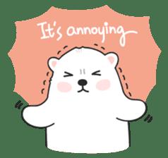 Sweet polar bear 'Gommy' stickers sticker #15580240