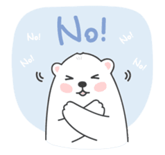 Sweet polar bear 'Gommy' stickers sticker #15580241