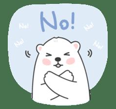 Sweet polar bear 'Gommy' stickers sticker #15580241