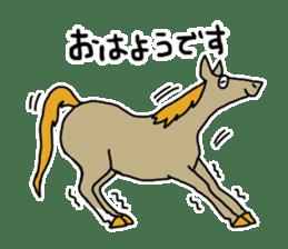 Cute Horse Sticker sticker #15584898