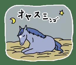 Cute Horse Sticker sticker #15584899