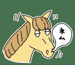 Cute Horse Sticker sticker #15584902