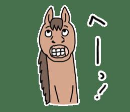 Cute Horse Sticker sticker #15584903