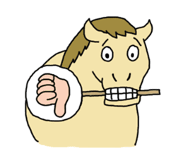 Cute Horse Sticker sticker #15584905