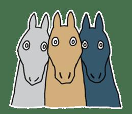 Cute Horse Sticker sticker #15584906