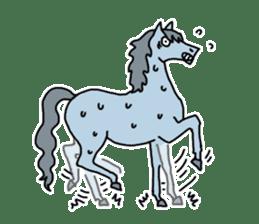 Cute Horse Sticker sticker #15584909