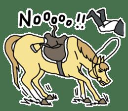 Cute Horse Sticker sticker #15584912