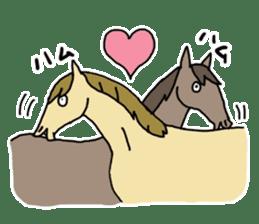 Cute Horse Sticker sticker #15584916
