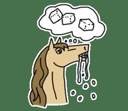 Cute Horse Sticker sticker #15584917