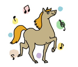 Cute Horse Sticker sticker #15584918