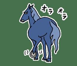Cute Horse Sticker sticker #15584920