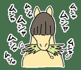 Cute Horse Sticker sticker #15584921