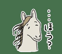 Cute Horse Sticker sticker #15584922