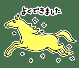 Cute Horse Sticker sticker #15584926