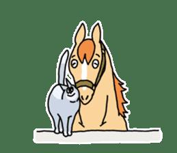 Cute Horse Sticker sticker #15584927