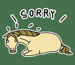 Cute Horse Sticker sticker #15584928