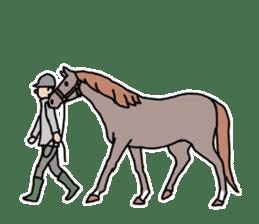 Cute Horse Sticker sticker #15584929