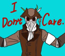 Unprofessional Plague Doc. sticker #15592054