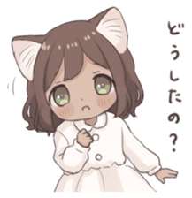 Twin kitten sticker sticker #15595972