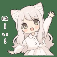 Twin kitten sticker sticker #15595979