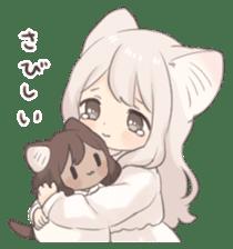 Twin kitten sticker sticker #15595987