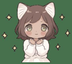 Twin kitten sticker sticker #15595994