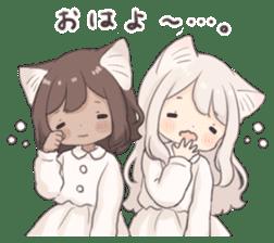 Twin kitten sticker sticker #15596000