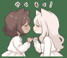 Twin kitten sticker sticker #15596003