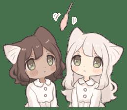 Twin kitten sticker sticker #15596005
