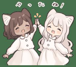 Twin kitten sticker sticker #15596007