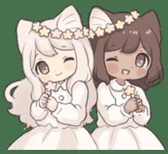 Twin kitten sticker sticker #15596009