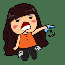 Cute Asian Girl sticker #15601690