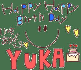 Happy birthday friends sticker #15602219