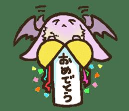 Japanese long-eared bat sticker #15610562