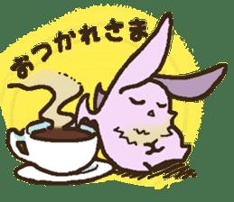 Japanese long-eared bat sticker #15610563