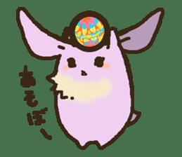 Japanese long-eared bat sticker #15610565
