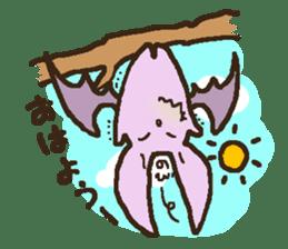 Japanese long-eared bat sticker #15610568