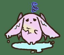 Japanese long-eared bat sticker #15610572