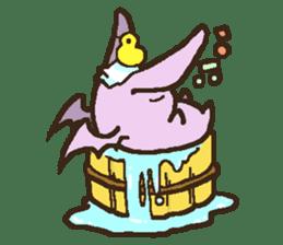 Japanese long-eared bat sticker #15610573