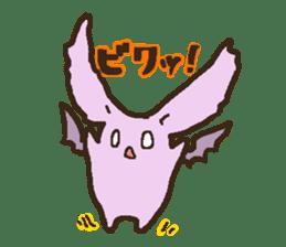 Japanese long-eared bat sticker #15610578