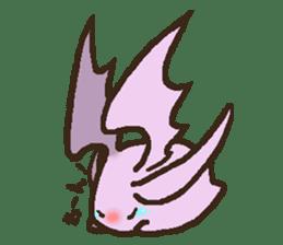 Japanese long-eared bat sticker #15610580