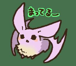Japanese long-eared bat sticker #15610583
