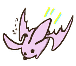 Japanese long-eared bat sticker #15610584